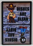 Clean/Dirty Rick Grimes & Walker Dishwasher Magnet. The Walking...