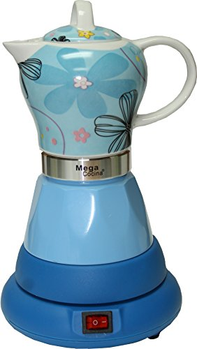 Electric Cordless Espresso Cuban Coffee Maker 4 Cups Color BLUE For Sale
