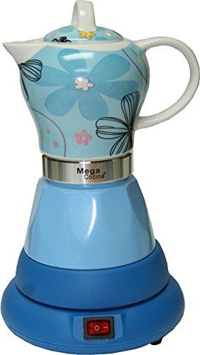 Electric Cordless Espresso Cuban Coffee Maker 4 Cups Color BLUE For Sale