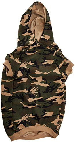 (Casual Canine Camo Hoodie for Dogs, 20
