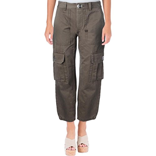 Marc by Marc Jacobs Womens Cropped High Rise Cargo Pants Green (Marc Jacobs Cropped)