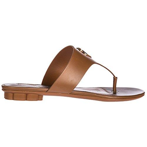 Brown Sandals Leather Enfola Flip Ferragamo Women's Salvatore Flops xz74wFTnq