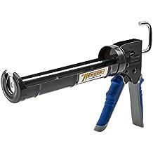Newborn Pro Super Ratchet Rod Caulk Gun with Gator Trigger Comfort Grip, 1/10 Gallon Cartridge, 6:1 Thrust Ratio