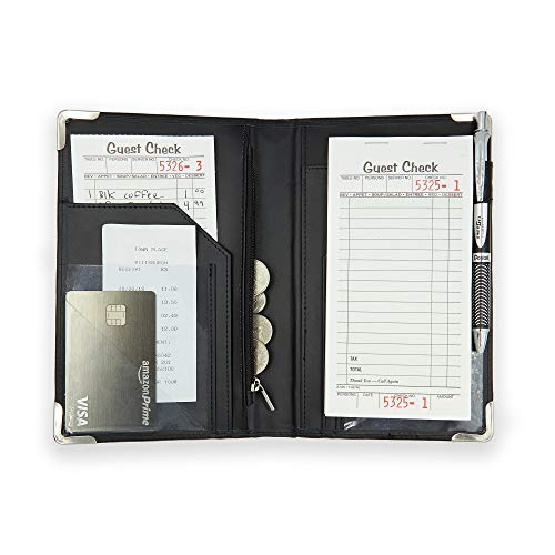 Server Book [2019 edition]  Better Zipper Pocket, Smooth Clean Cover, Firmer Writing Service and Stronger Corners! Waiter/Waitress Pads - Restaurant Server Books/Pad/Holder/Organizer for waitress