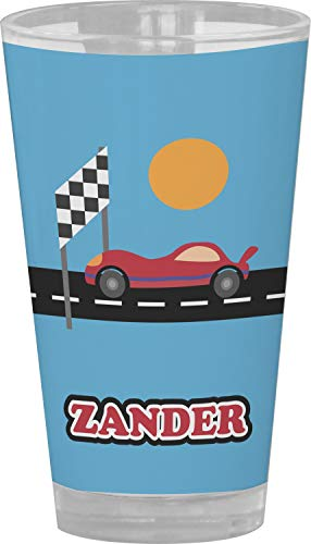 Race Car Drinking/Pint Glass (Personalized) from YouCustomizeIt