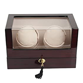 Kendal Top Quality Single Automatic Wooden Watch Winder with Advanced Control W2+0cbk