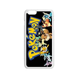 Lucky Anime cartoon Pokemon durable Cell Phone Case Cover For Apple Iphone 6 Plus 5.5 Inch
