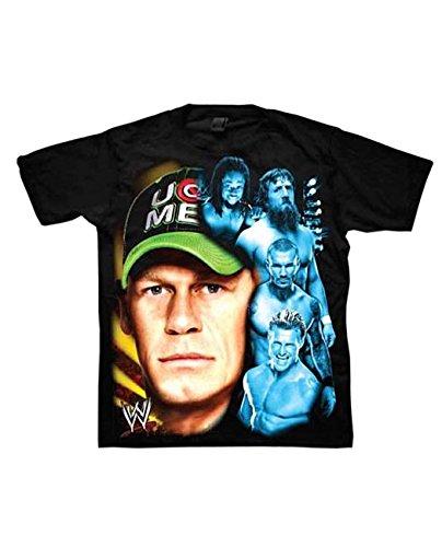 John Cena Randy Orton Kofi Kingston Dolph Ziggler Daniel Bryan Boys Black T-Shirt
