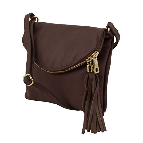 Brown bag bag tassel TL Tuscany detail Leather Young Shoulder Dark with Red WwZBxS4Rq