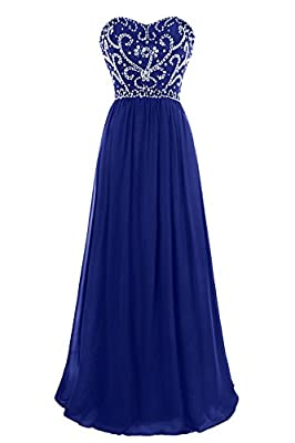 MsJune Prom Dresses A Line Sweetheart Beaded Lace Up Back Floor Length Evening Dress