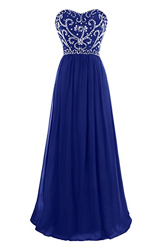 MsJune Prom Dresses Sweetheart Beaded A Line Lace Up Back Floor Length Evening Dress