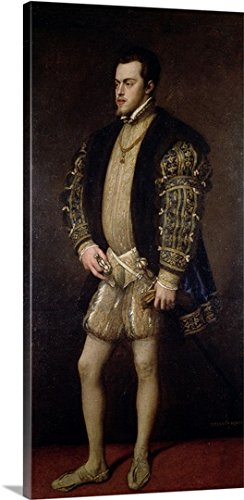 Portrait of Philip II (1527-98) of Spain (oil on canvas) Gallery-Wrapped Canvas by greatBIGcanvas