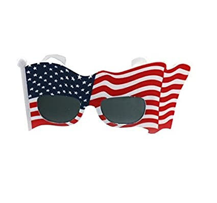 b0c78a83b533 Image Unavailable. Image not available for. Color  American Flag Sunglasses  USA Patriotic Design Plastic Glasses Shades Sunglasses Eyewear for 4th of  July ...