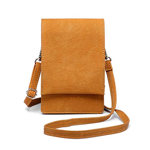 Shomico Women Small Crossbody Purse Cell Phone Pouch Wallet Shoulder Bag For 6 Inches (Bella - Bag Shoulder Epi Leather