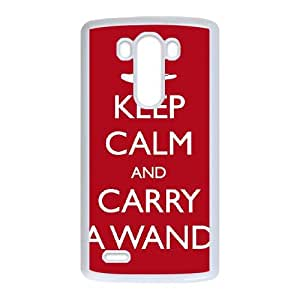 Keep Calm Carry Wand LG G3 Cell Phone Case White UD1361661
