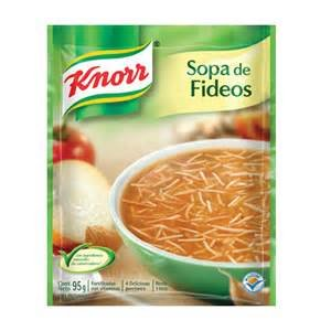 Knorr Tomato Fideos Pasta Soup Set of 6 Bags 3.5 Oz Each