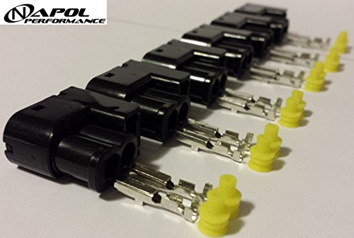 Toyota Supra Soarer Aristo Ignition Coil Connectors Clips 1JZ 2JZ MK4 MK3 MKIV - Coil Pack Harness Plugs 2JZ-GTE 2JZ-GE SC300 CHASER - Pack of 6 - Mkiv Supra
