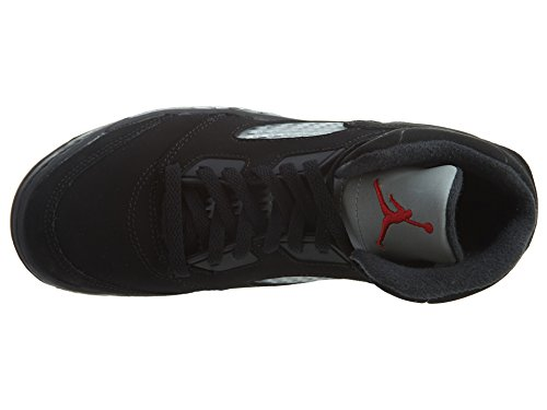 Nike Baby Boys Air Jordan 5 Retro BP OG Metallic Black/Fire Red-Mtllc Silver Suede Size 1Y by Jordan (Image #6)