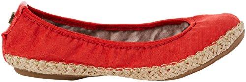 Butterfly Twists Damen Gigi Linen Geschlossene Ballerinas Red (Tomato Linen)