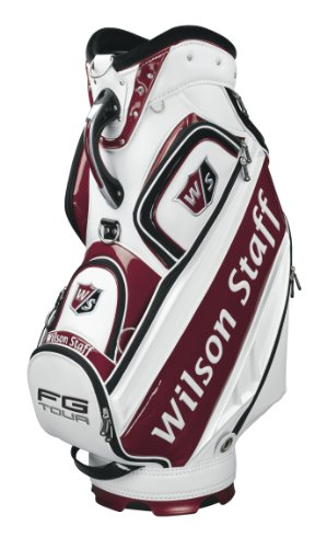 Wilson Staff Pro Tour Cart Golf Bag, White, 10-Inch