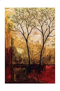 لوحة ليزر بطبعة اشجار - 160×90 سم