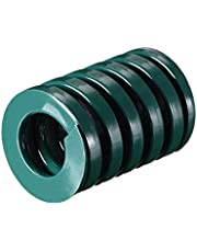 uxcell 30mm OD 40mm Long Spiral Stamping Heavy Load Compression Mould Die Spring Green 1Pcs
