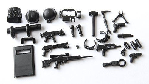 Custom SWAT / Armor & Weapon - 23 pcs - Lot 8-12 (for minifigs)