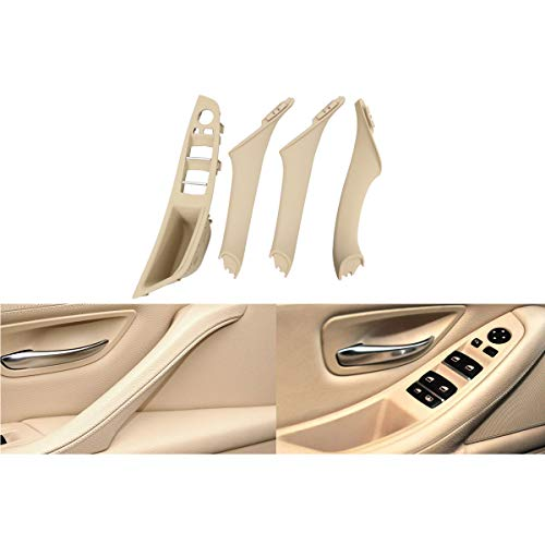XtremeAmazing Beige (Left Front) Driver Side Window Switch Armrest Panel + Right Front/Rear Left/Rear Right Side Inner Interior Door Pull Panel Handle Armrest Outer Trim Cover Kit