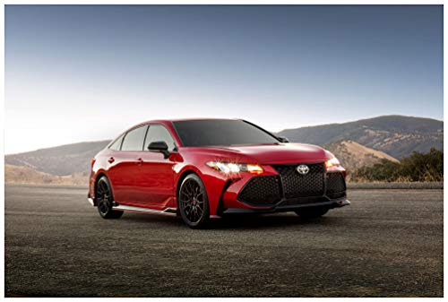 """Toyota Avalon TRD (2020) Car Art Poster Print on 10 Mil Archival Satin Paper Red Front Side Static View (24""""x36"""")"""