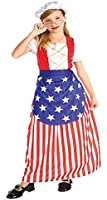 Girls Patriotic Betsy Ross Kids Child Fancy Dress Party Halloween Costume