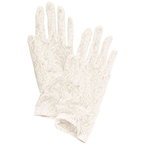Lace Wrist-Length Gloves Style JENELLE, Ivory from David's Bridal