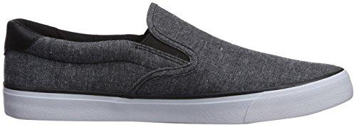 Lugz Men's Clipper Sneaker, Black/White Chambray, 10.5 M US