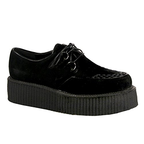 shoes Demonia 37 US US punk 13 industrial creeper 502s V creeper M5 Herren suede 5 3 gothic qAwr670Ax