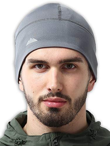 Skull Cap Helmet Liner Running Beanie - Winter Thermal Under Helmet Cycling Head Hat - Ultimate Moisture Wicking Performance