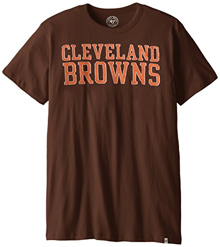 NFL Cleveland Browns '47 Brand Men's Fieldhouse Basic Tee, Brown, X-Large