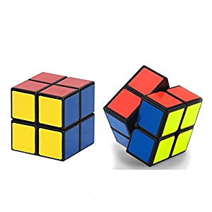 CCLIFE Speed Cube Puzzle,2x2 3x3 4x4 5x5 Set,Black Magic cube, Super-durable With Vivid Colors Toys Brain Teaser Gifts(Pack of 4)