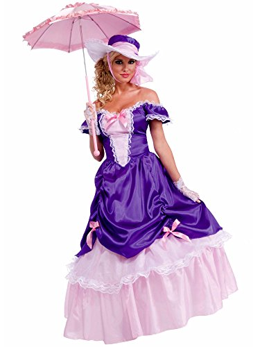 (Forum Novelties Women's Blossom Southern Belle Costume, Purple/Pink, One)