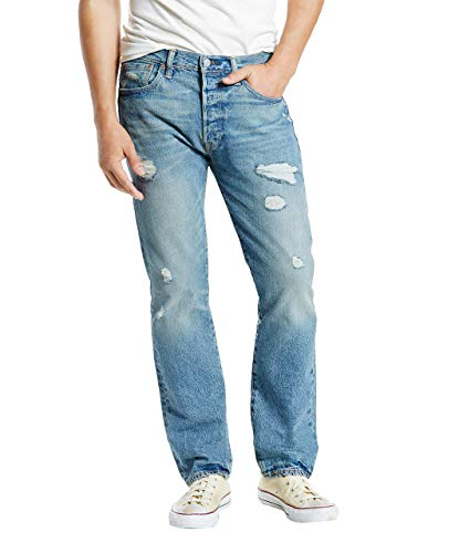 - Levi's Men's 501 Original Fit Jean, Torn Up Destruction, 36x32