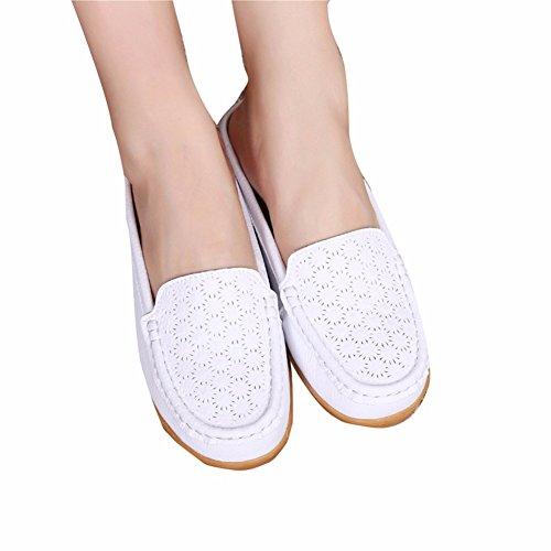 Tous Femme Loisirs Plat Jours Chaussures Chaussures Manolo pour YUCH white Talon Chaussons Blahnik Femmes Les Les xqw6f