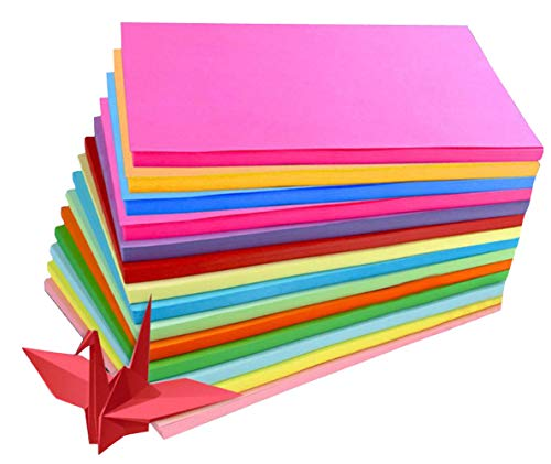 ASTRQLE 100Sheets A4 Assorted Coloured Pastel Bright Paper Multipurpose Double Sided Folding Origami Paper for Kid's Art & Craft Activities Office Family Use ()