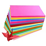 100Sheets A4 Assorted Coloured Pastel Bright Paper Multipurpose Double Sided Folding Origami Paper For Kid's Art & Craft Activities Office Family Use