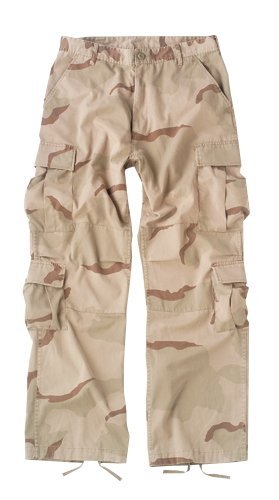 Tri-Color Desert Camouflage Vintage Paratrooper Fatigues Size X-Large
