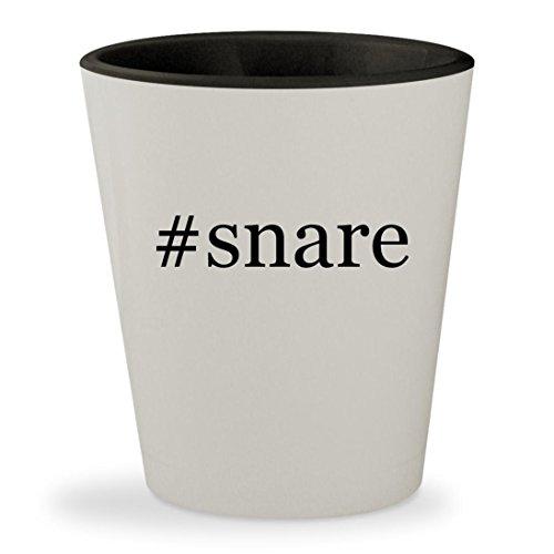 #snare - Hashtag White Outer & Black Inner Ceramic 1.5oz Shot Glass