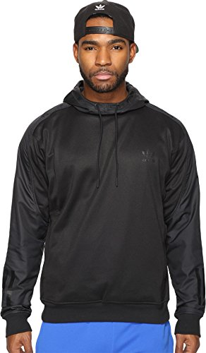 (adidas Originals Men's Outerwear Doom Blocked Hoodie, Black, Medium)