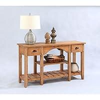 Progressive Furniture T408-55 Willow Console Table, 52 x 16 x 30, Brown