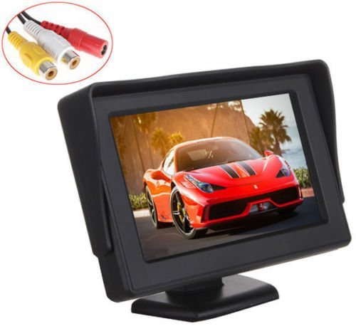 Car Rear View Backup Monitor,Esky 4.3 Inch TFT LCD Color Display Car Rear View 180 Degree Adjustable Monitor Screen for Rearview Vehicle Backup Parking Cameras[The Wirecutter's Pick] by Esky (Image #1)
