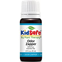 KidSafe Odor Zapper Synergy Essential Oil Blend 10 ml (1/3 oz). 100% Pure, Undiluted, Therapeutic Grade. (Blend of: Pine, Copaiba, Palmarosa, Lemon, Coriander, Cypress and Sandalwood.)
