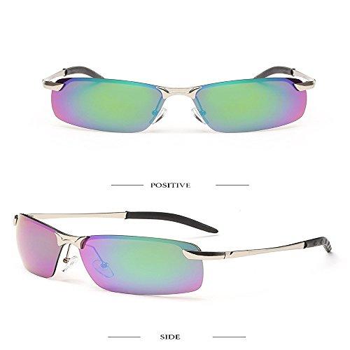 de gafas deportivas sombreado gafas pesca moda polarizadas morado Marco nariz blanca 2018 sol 3043 unidad Aiku Plateado de última sol de plateado Morado Verde Marco hombres de Verde aXqYwxOz