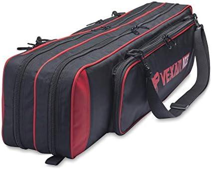 Vexan ICE フィッシングロッド&タックルバッグ 36.5インチ セミソフトケース マルチピースフライロッドボックス 最大36インチのロッドとロッドピースに対応。 Eskimo ICE Houseに合う赤色。