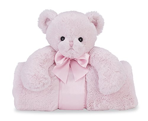 Cuddly Pink Teddy Bear - Bearington Baby Huggie Bear Cuddle Me Sleeper, Pink Teddy Bear Large Size Security Blanket, 28.5